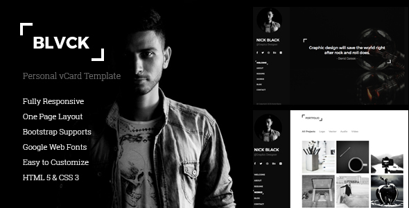 download Blvck - Personal vCard & Resume Template.jpg