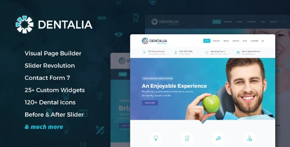 Download Dentalia - Dentist & Medical WordPress Theme latest version.jpg
