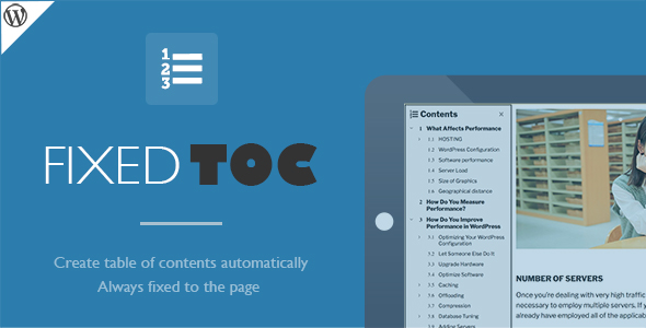 Download Fixed TOC - table of contents for WordPress plugin laster version.jpg