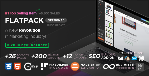Download FLATPACK – Landing Pages Pack With Page Builder.png