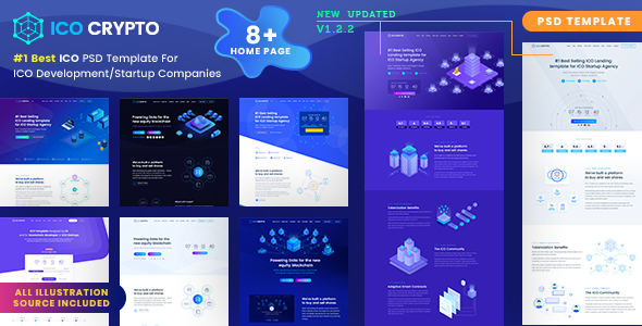 Download ICO Crypto – Bitcoin and Cryptocurrency Landing Page PSD Template laste version.png