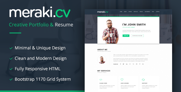 Download Meraki One Page Resume Wordpress Theme Latest