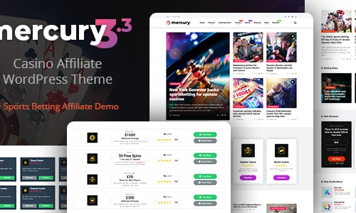 Download Mercury - Gambling & Casino Affiliate WordPress Theme. News & Reviews latest version.jpg