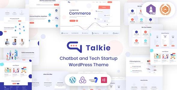 Download Talkie - Chatbot and Tech Startup WordPress Theme latest version.jpg