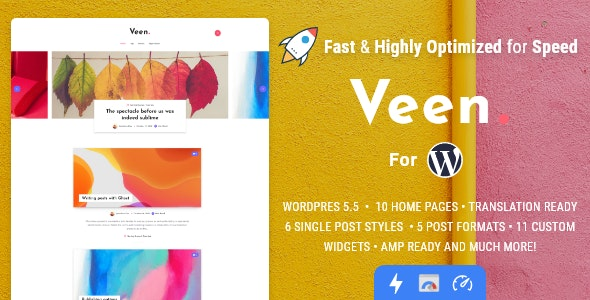 Download Veen - Minimal & Lightweight Blog for WordPress latest version.jpg
