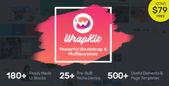 download WrapKit - Bootstrap 4 Multipurpose Template.jpg