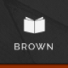 Brown - Responsive WordPress Theme for eBook